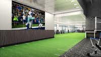 This rendering shows the new fitness center at The Star in Frisco called Cowboys Fit.(Dallas Cowboys)